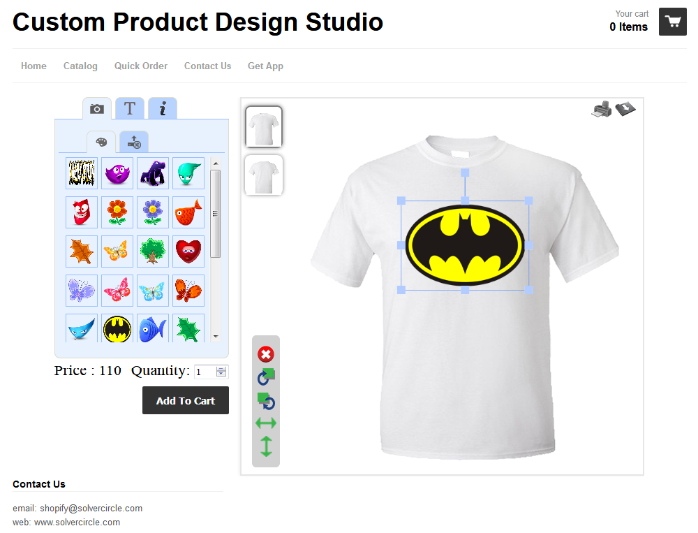 Shopify Custom Product Design Studio - design any Product for shopify