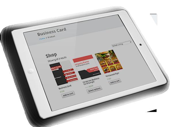 WooCommerce Business Card & Flyer Design Download