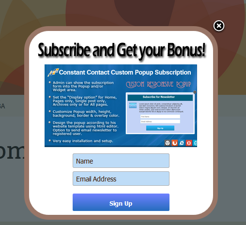 constant contact wordpress