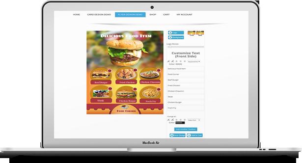 WooCommerce Business Card & Flyer Design 17