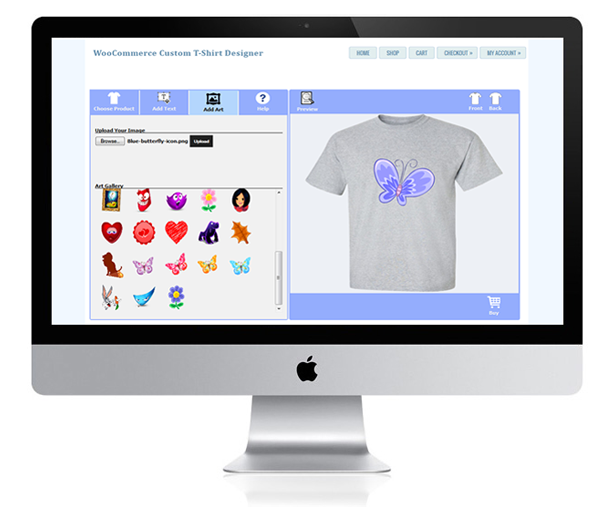 WooCommerce Custom T-Shirt Designer 22