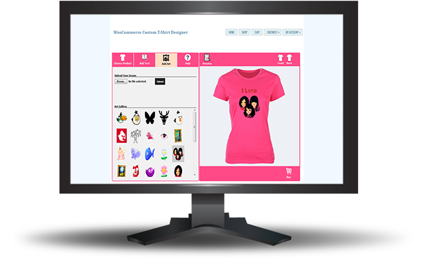 WooCommerce Custom T-Shirt Designer 12