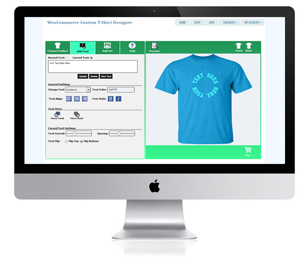 WooCommerce Custom T-Shirt Designer 20