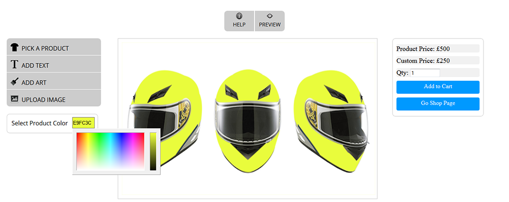 WooCommerce Custom Super Bowl Helmet Designer 11