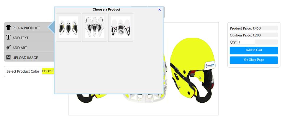 WooCommerce Custom Super Bowl Helmet Designer 10