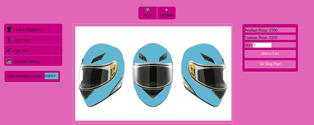 WooCommerce Custom Super Bowl Helmet Designer 16