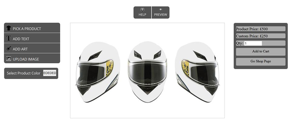 WooCommerce Custom Super Bowl Helmet Designer 15