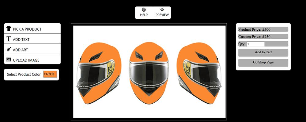 WooCommerce Custom Super Bowl Helmet Designer 14