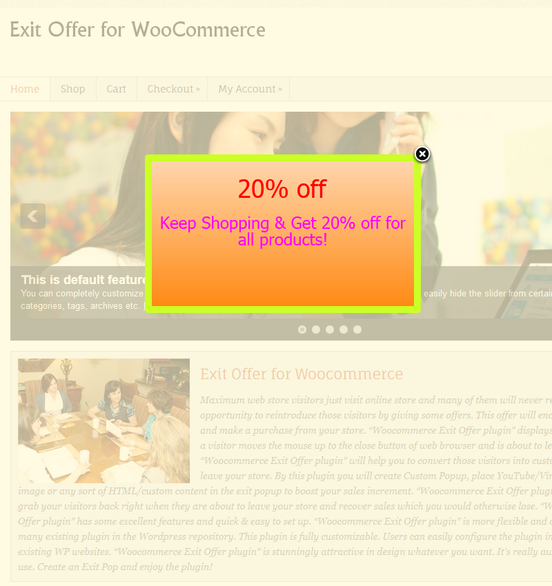 Exit Offer for Woocommerce 7