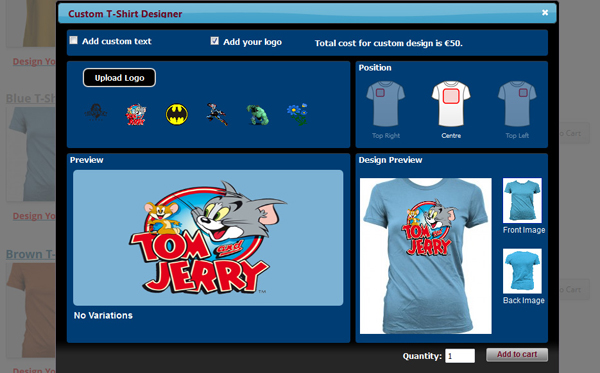 WP eCommerce Custom T-Shirt Design Studio - 9