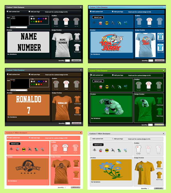 WP eCommerce Custom T-Shirt Design Studio - 12