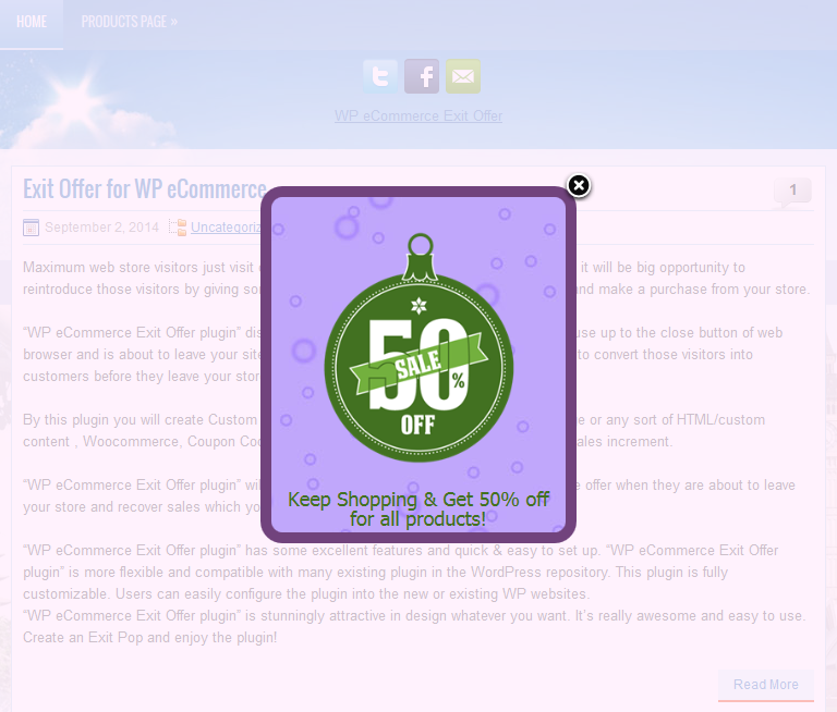 Exit Offer for WP eCommerce - 6