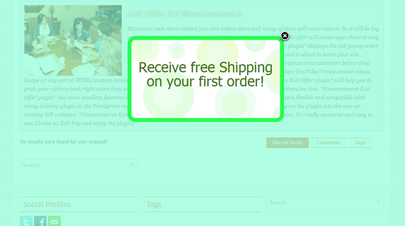 Exit Offer for WP eCommerce - 9